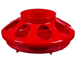 Chicken Feeder #806 Red Plastic