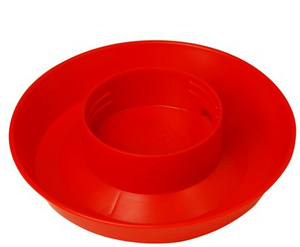 Chicken Waterer Base 1qt Red