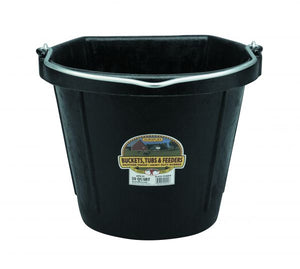 20-Qt Rubber Flat-Back Bucket