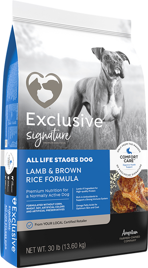 Exclusive All Life Stages Lamb & Rice Dry Dog Food