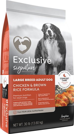 Exclusive Lg Breed Adult Chicken & Brown Rice