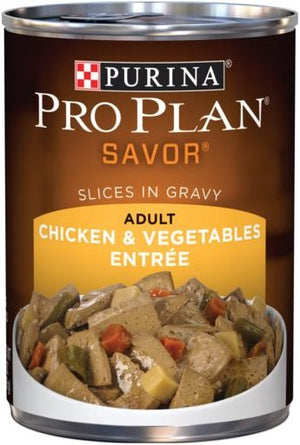 Purina Pro Plan Gravy Chicken and Vegetable Canned Adult Dog Food