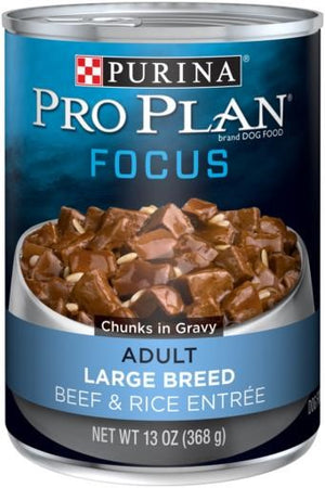 Purina Pro Plan Gravy Beef and Rice for Large Breeds Canned Adult Dog Food