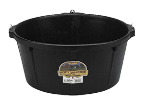 6.5-Gal Rubber Feed Tub with Hooks
