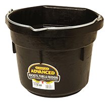 12-Qt Flatback Rubber Bucket