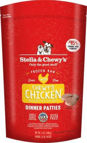 Stella & Chewy's Chicken Dinner Patties Frozen Dog Food