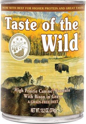 Taste of the Wild High Prairie Canine Formula with Bison in Gravy Wet Dog Food