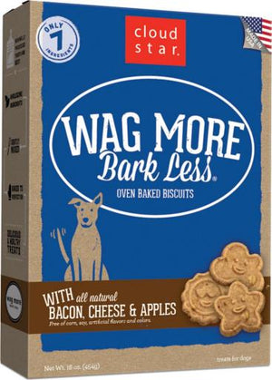Wag More Bark Less Bacon, Cheese and Apple Oven Baked Dog Treats