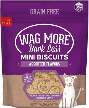 Wag More Bark Less Assorted Mini Oven Baked Grain Free Dog Treats