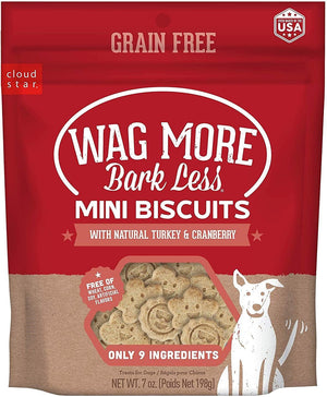Wag More Bark Less Turkey and Cranberry Mini Oven Baked Grain Free Dog Treats