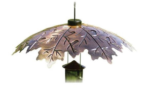 "Woodlink Brushed Copper 18"" Oak Leaf Bird Feeder Weather Shield"