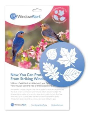 Songbird Essentials 5-pack Window Decals - Leaf Medley