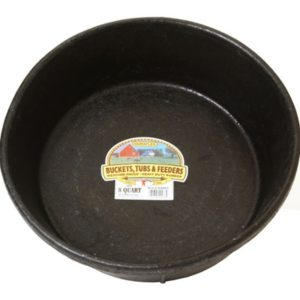 2-Qt Rubber Feed Pan