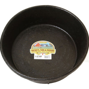 Rubber 8 Quart Feed Pan