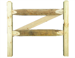 Heavy Duty Split Rail Gate