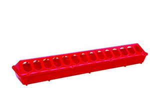 Chicken Feeder 20in Flip Top Red