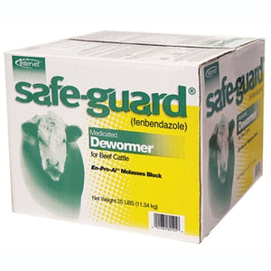 Intervet Safe-Guard Medicated Dewormer Block for Cattle