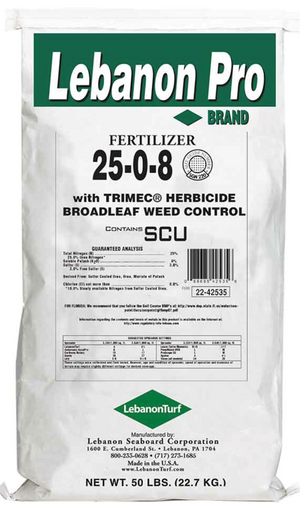 25-0-8 with Trimec Weed'n Feed Broadleaf Weed Killer