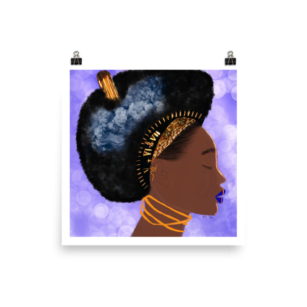 Black Queen Thinking Poster