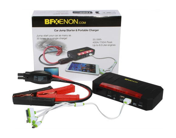 21,000 mAh Premium Portable Jump Starter & Power Bank