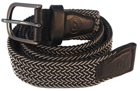 Woven belt - Black/White - Belts - Birdie Golfwear