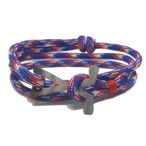 Clubs - Red, White & Blue Long - Bracelets - Birdie Golfwear