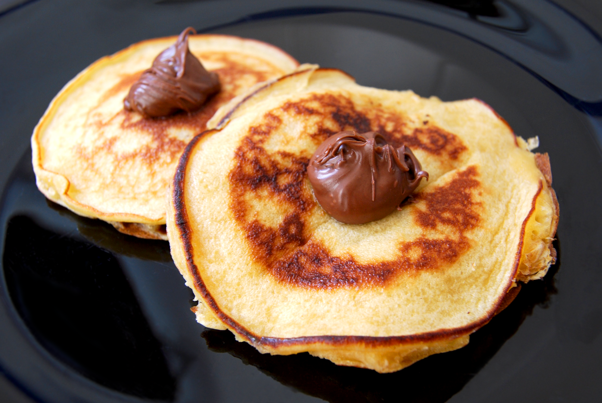 American Pancake filled with Nutella