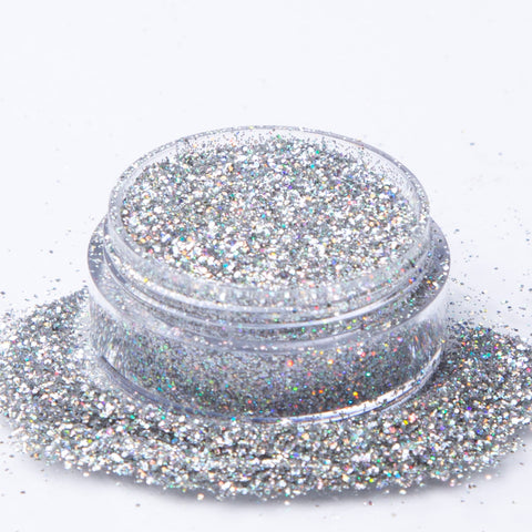 Biodegradable Holographic Silver Glitter