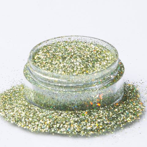 Biodegradable Holographic Green Gold Glitter
