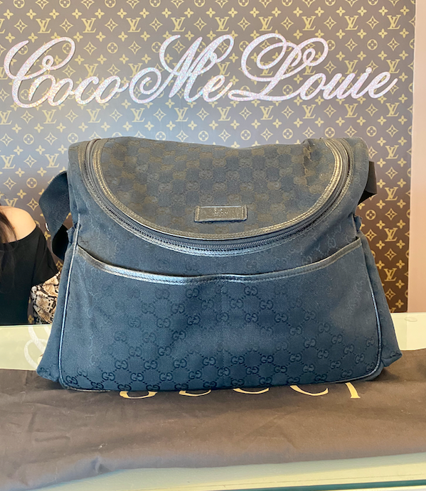GUCCI GG DIAPER BAG BLACK