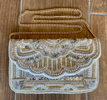 MED/LARGE BEADED CROSSBODY/CLUTCH