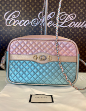 *DEAL* GUCCI TRAPUNTATTA METALLIC CROSSBODY