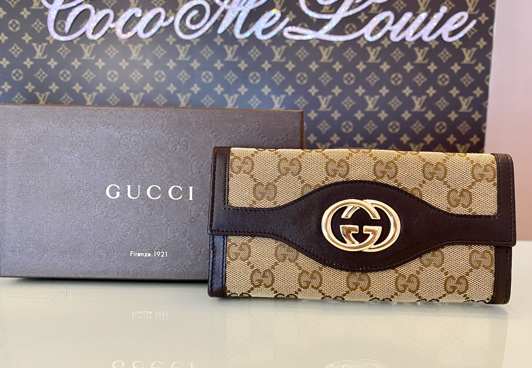 GUCCI GG WALLET BROWN