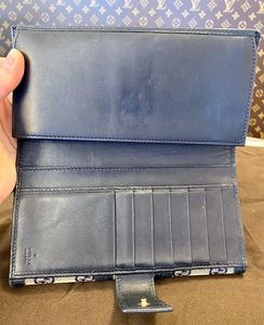 GUCCI NAVY BOSTON + WALLET COMBO