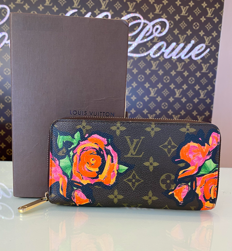 LIMITED EDITION STEPHEN SPROUSE ROSE ZIPPY WALLET