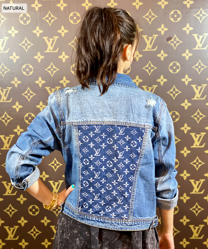 MEDIUM DENIM LV JACKET (REG & PLUS SIZE)