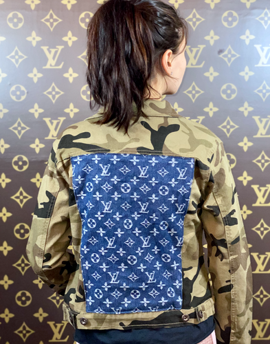LV CAMO DENIM JACKET