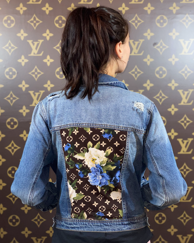 BLUE FLOWER MEDIUM DENIM JACKET
