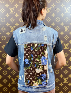 FLOWER DENIM VEST