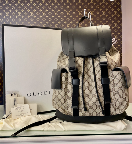 LIKE NEW ! GUCCI GG SUPREME SOFT BACKPACK