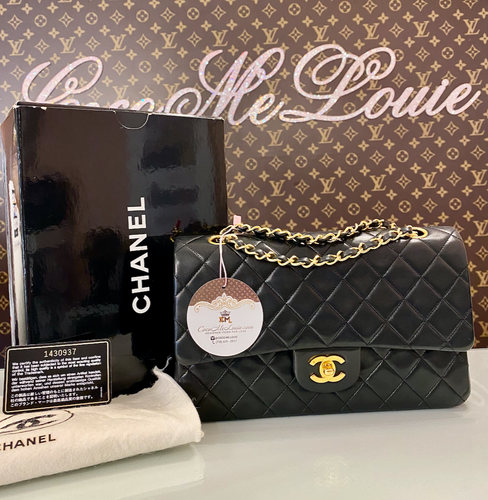 CHANEL DOUBLE FLAP BLACK