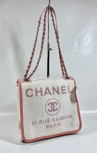 CHANEL RAFFIA DEAUVILLE CROSSBODY