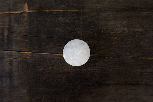 Circular Selenite Palm Stone