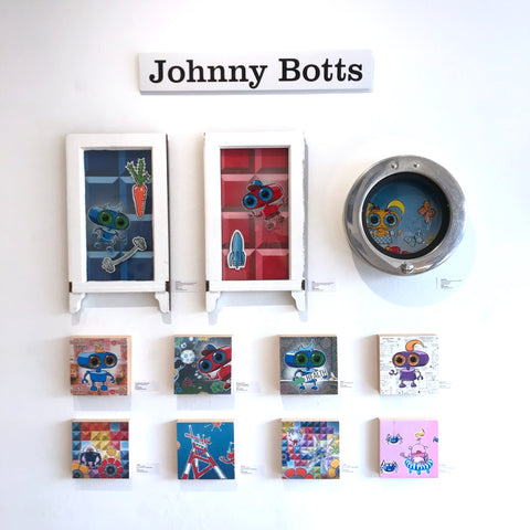 Johnny Botts' wall for October at City Art Gallery in San Francisco