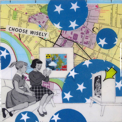 "Johnny Botts collage ""Choose Wisely"""
