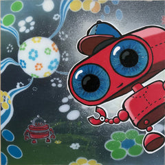 """Johnny Botts painting """"Welcome to the Flower Power Galaxy 2"""""""