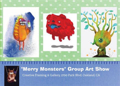 Merry Monsters Postcard