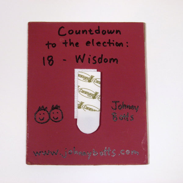 Countdown to the Election: Day 18-Wisdom