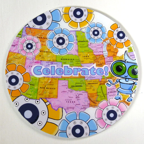 Mini-Print Magnet: Celebrate