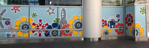 Dynamism mural at Sales Force Transit Center